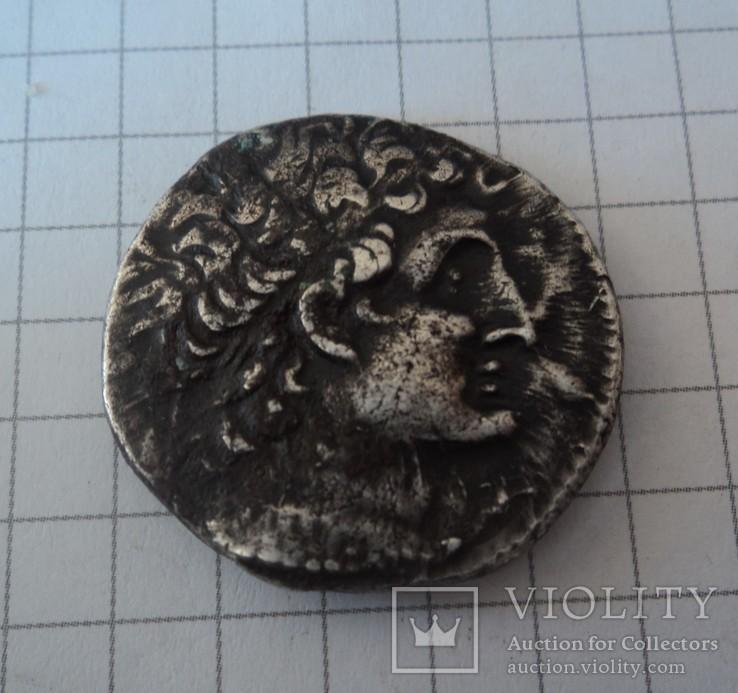 Птолемей ІX Сотер II 116-106 гг. до н. э.Тетрадрахма AU,  серебро