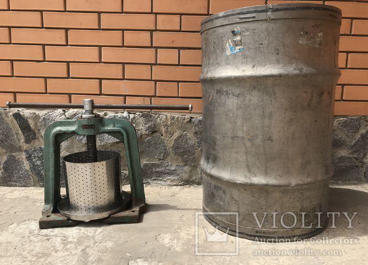 Домашний винтовой пресс с бочкой(пищевая нержавейка), фото №2