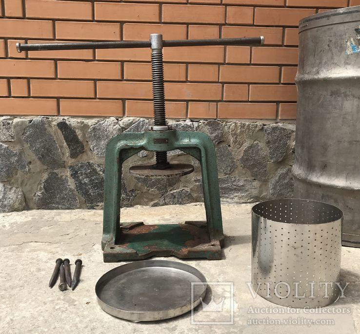 Домашний винтовой пресс с бочкой(пищевая нержавейка), фото №6