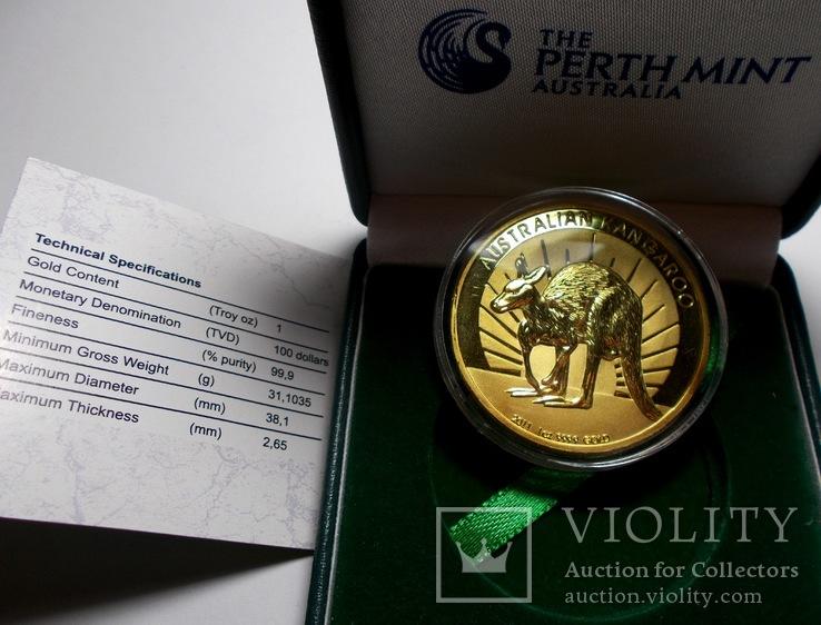 Монета Австралийский Кенгуру 100 долларов 1oz