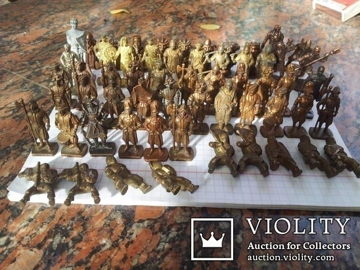 Коллекци солтатиков из киндеров 60шт, фото №3