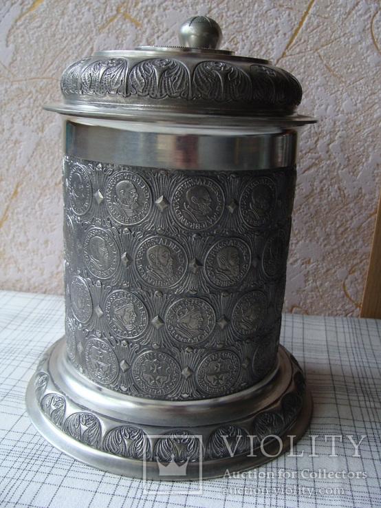 Большая Коллекционная Пивная Кружка Бокал (2). Клеймо. Германия., фото №3