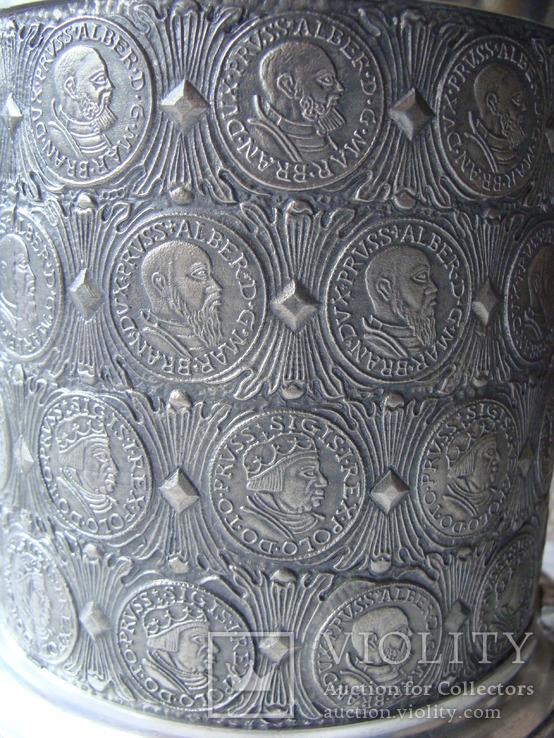 Большая Коллекционная Пивная Кружка Бокал (2). Клеймо. Германия., фото №11