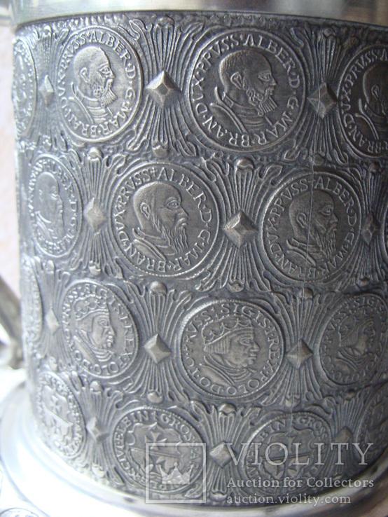 Большая Коллекционная Пивная Кружка Бокал (2). Клеймо. Германия., фото №13