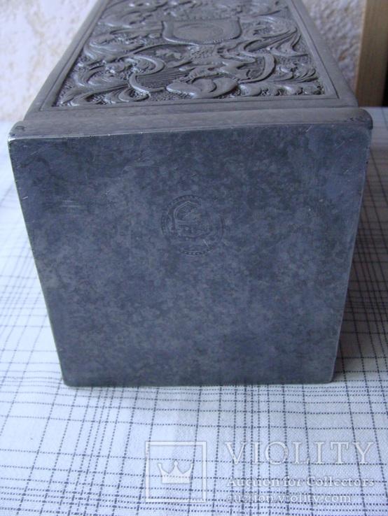 Коллекционный старинный сосуд фляга. Клеймо., фото №8