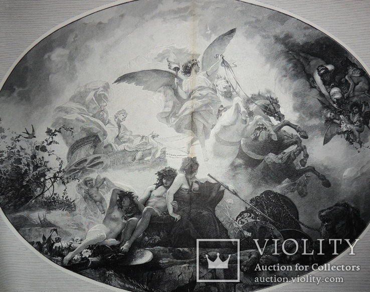 Иллюстрация с журнала 47 х37 см начало 20 век