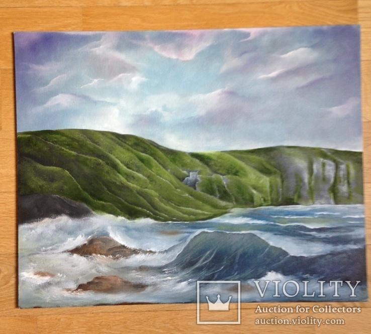 Морской пейзаж Авторская работа Холст на картоне, фото №2