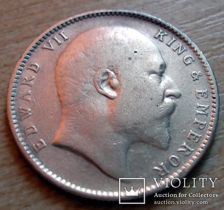 Британская Индия 1 рупия 1904 г. Эдвард VII, фото №3
