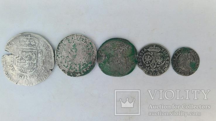 Талер 1636р.+монети срібла