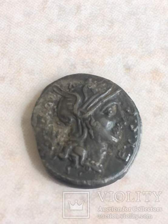 Денарий  M. Sergius Silus (116-115 г. до. н.э.), фото №2