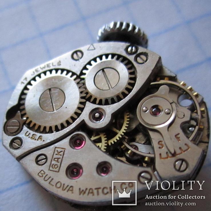 Часы Bulova cеребро 800пр. 17 камней женские, фото №2