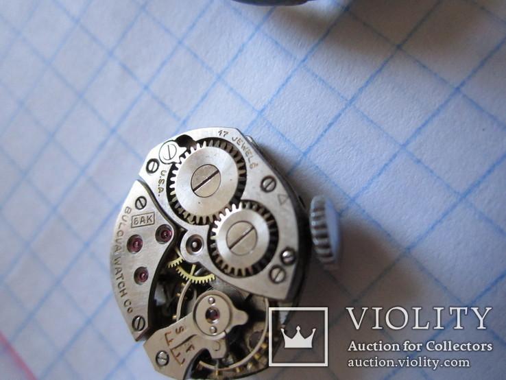 Часы Bulova cеребро 800пр. 17 камней женские, фото №5