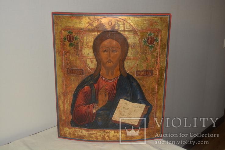 Большая икона Иисус Христос 52*45*3 см.