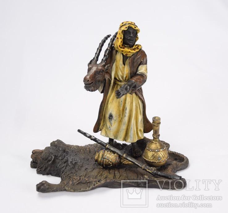 Фигурка Бедуин. Бронза, подпись