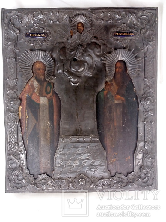 Икона Св Миколай і Св. Василій, перша половина 19 ст.