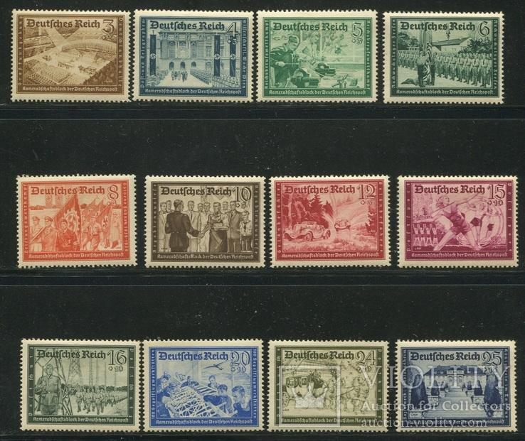 1939 Рейх  немецкая почта  полная серия
