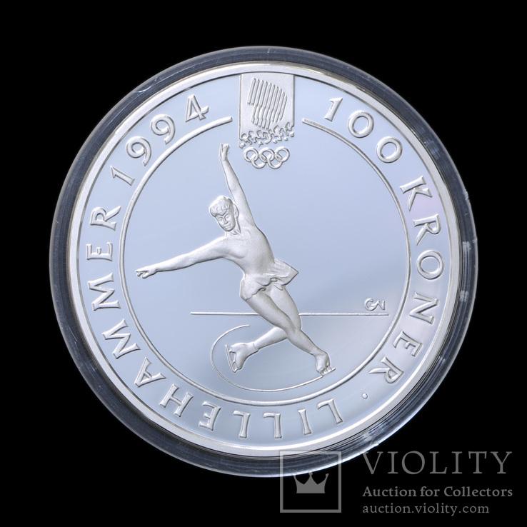 100 Крон 1993 Фигурное Катание, Норвегия