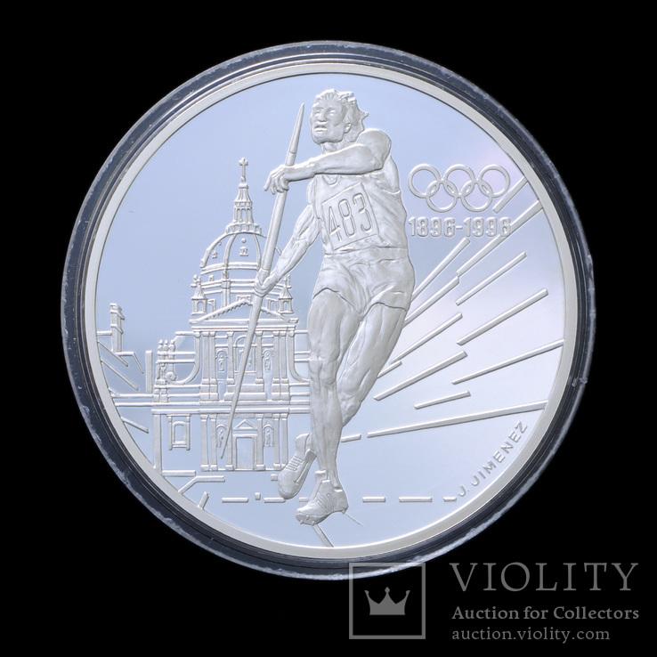 100 Франков 1994 Метание Копья 100 Лет Олимпийским Играм, Франция Унция