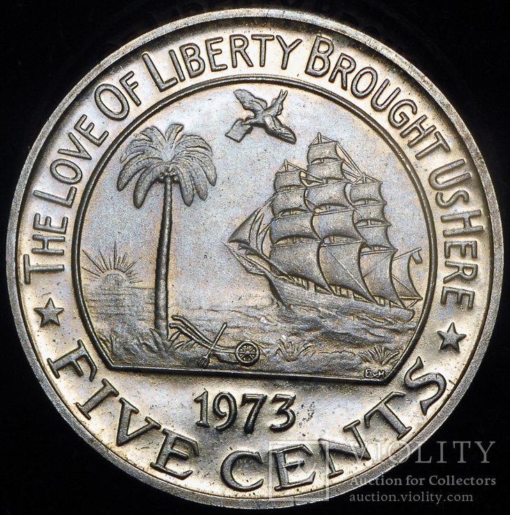 Либерия 5 центов 1973 пруф