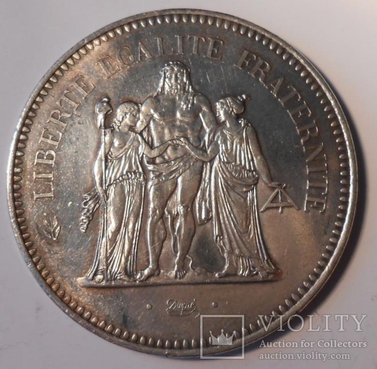 Франция 50 франков 1974г. 900 проба 30 грамм Геракл unc
