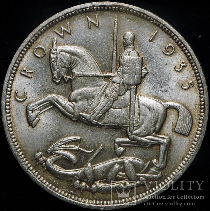Великобритания крона 1935 Unc серебро