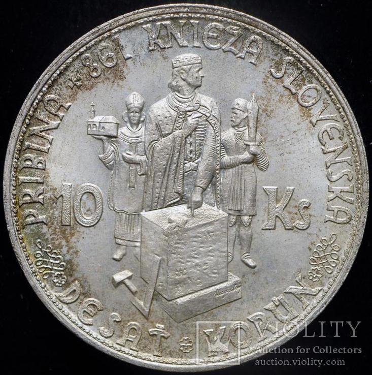 Словакия 10 крон 1944 Unc серебро
