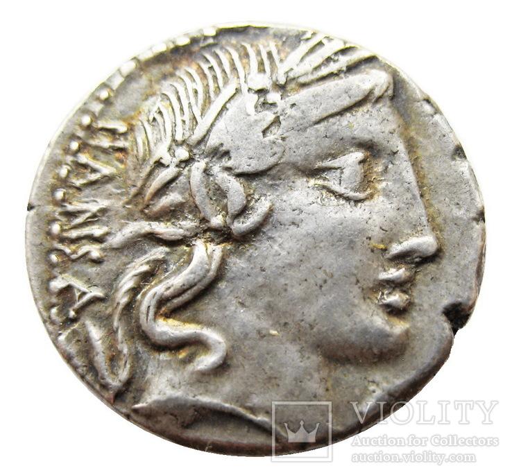 Республиканский денарий  C. Vibius Pansa 90 г. до н.э.