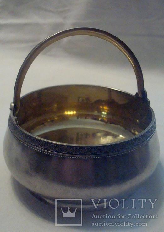 Сахарница. Таллинский ювелирный з-д. Серебро 875.