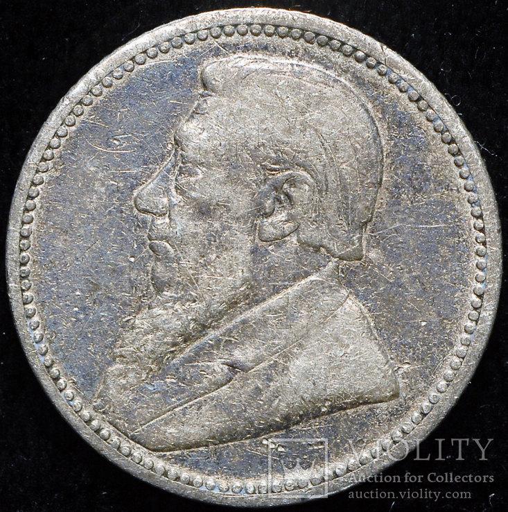 ЮАР 6 пенсов 1895 серебро
