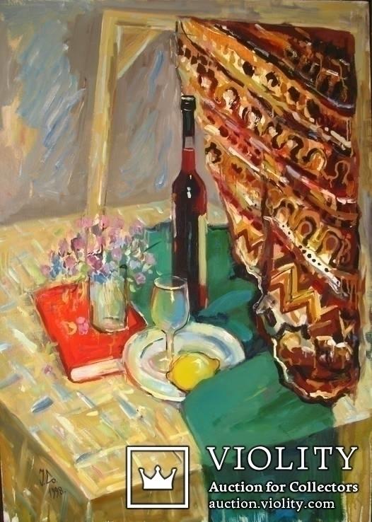 Натюрморт с лимоном. Холст, масло. 95*68. 1998г. Солодовников И.
