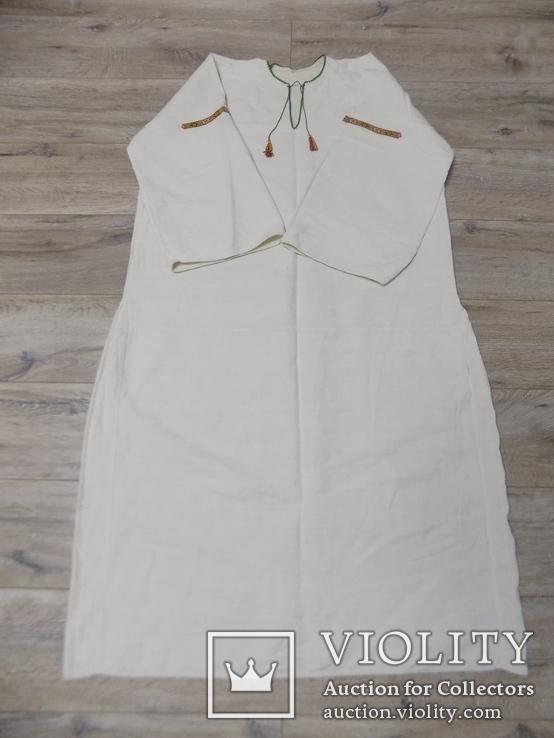 Полотняна жіноча сорочка, фото №3