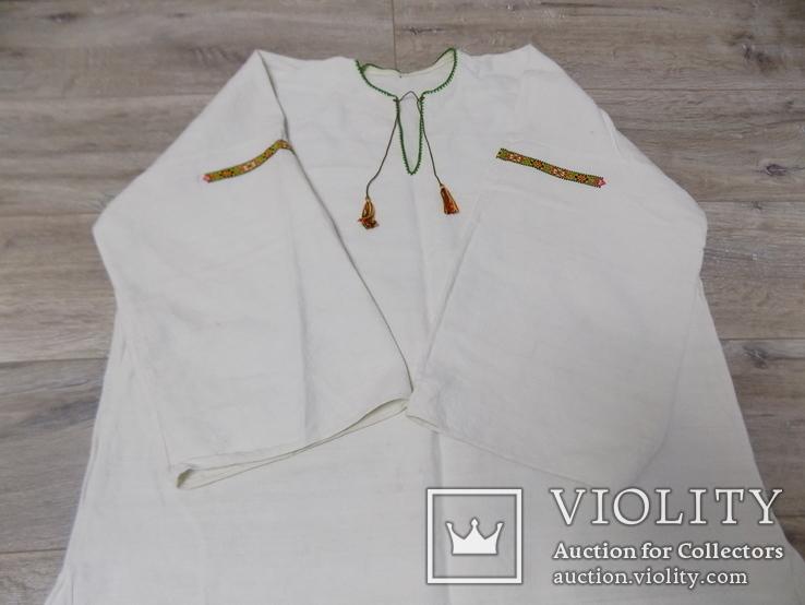 Полотняна жіноча сорочка, фото №4