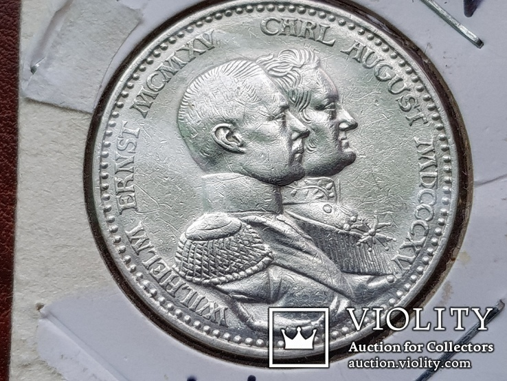 3 марки 1915 г.  Вильгельм Эрнст и Карл Август.