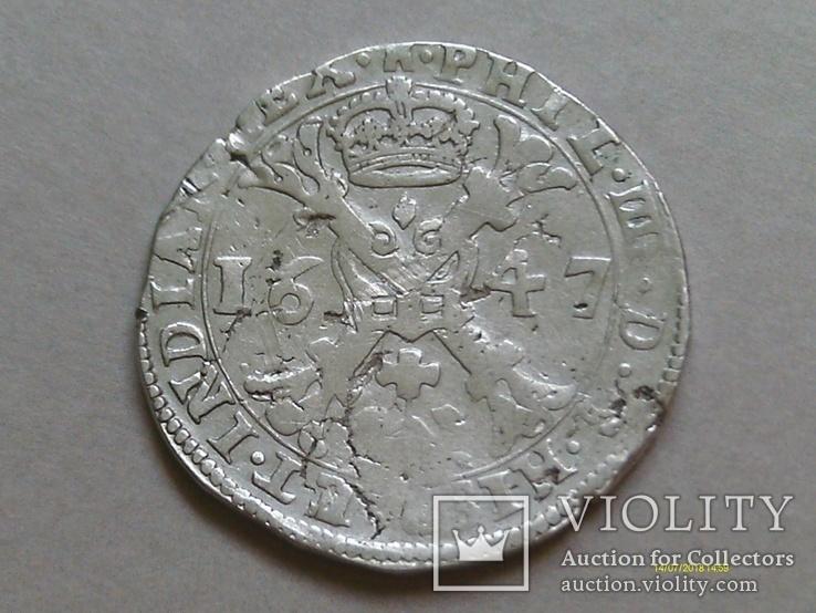 Талер. Патагон. 1647. Филипп IV. Нидерланды. Турне.