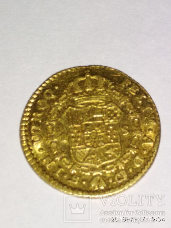1 эскудо Испания Карл III