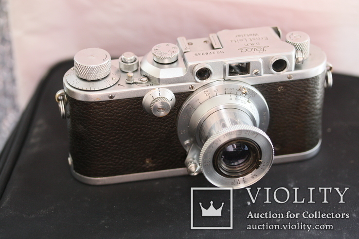 Фотоаппарат Leica IIIb 1938года elmar 50-3.5