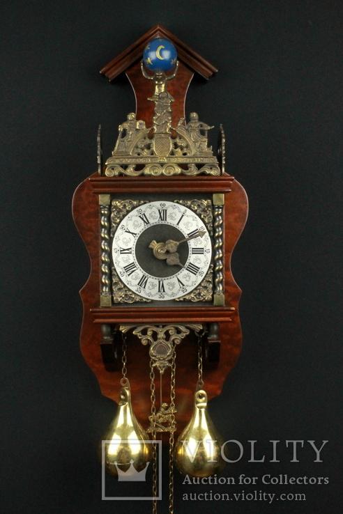 Настенные маятниковые часы WUBA с боем. Механизм Franz Hermle. Голландия. (0401)