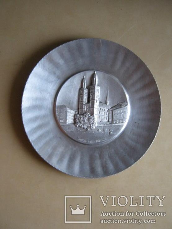Тарелка декоративная Швейцария, фото №2