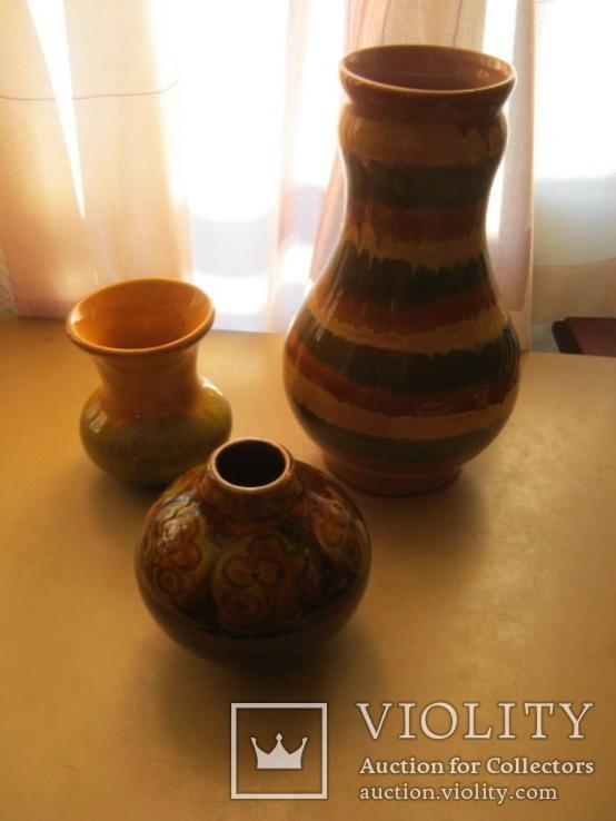 Три керамических вазы, фото №3
