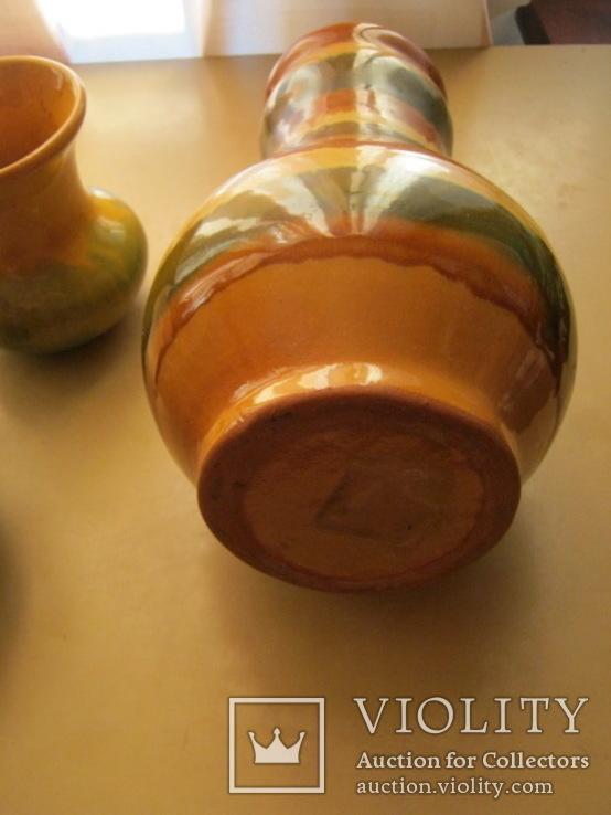 Три керамических вазы, фото №9
