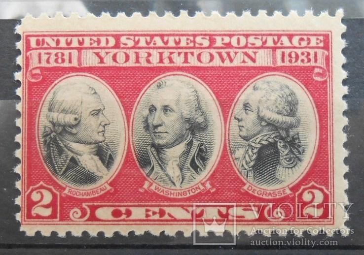 1931 г. США 2 цента Сурренден и др. (**), фото №2