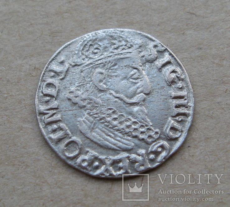 Трояк 1622 года. Сиг. ІІІ Ваза ( лот 2 ).