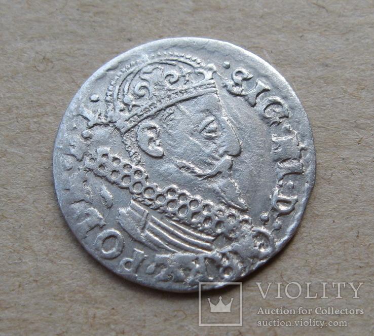 Трояк 1623 года. Сиг. ІІІ Ваза ( лот 3 ).