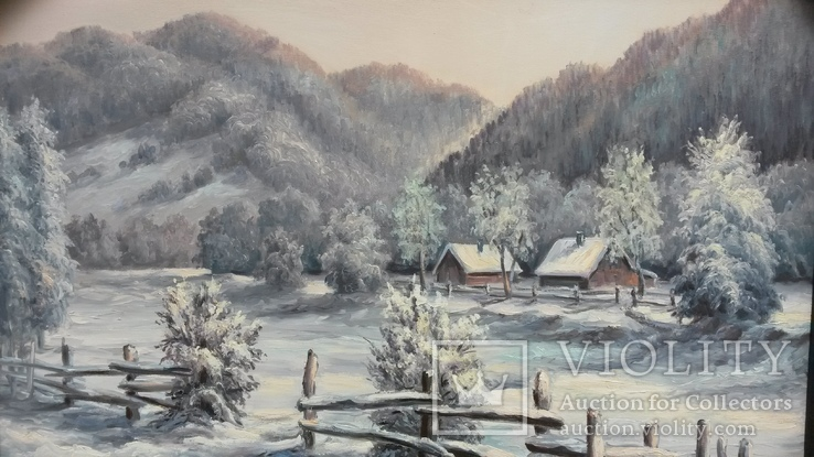 Картина маслом Зима