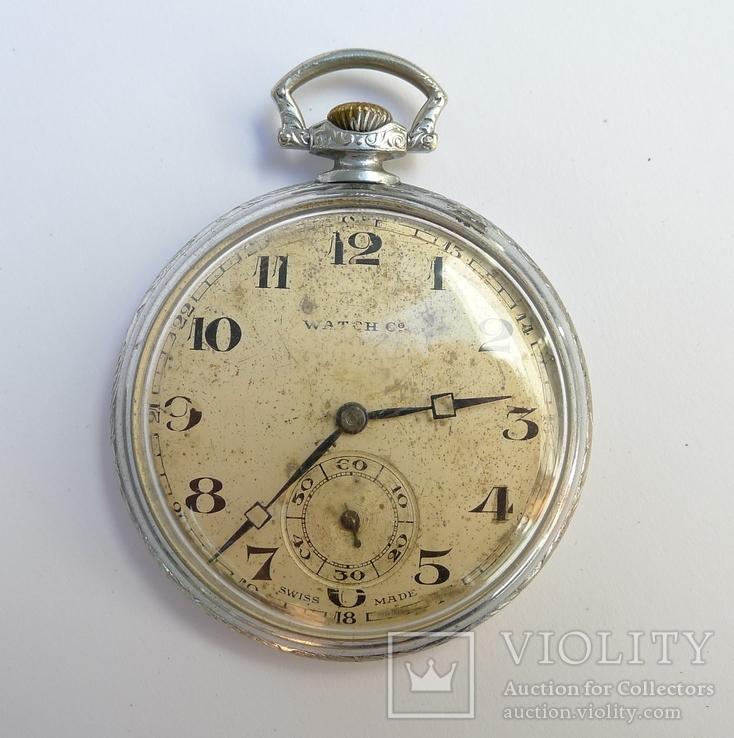 9236a1bb Часы карманные Watch Co . Swiss made/ Pat. D.R.P - «VIOLITY» Auction ...