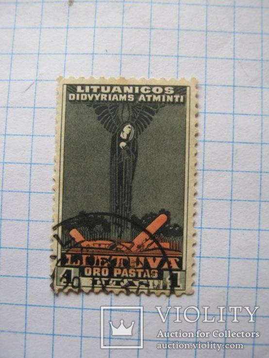 Марка 1 литас  Литуаника 1934, фото №2