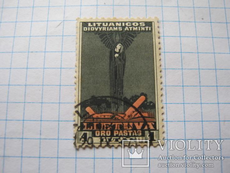 Марка 1 литас  Литуаника 1934, фото №5