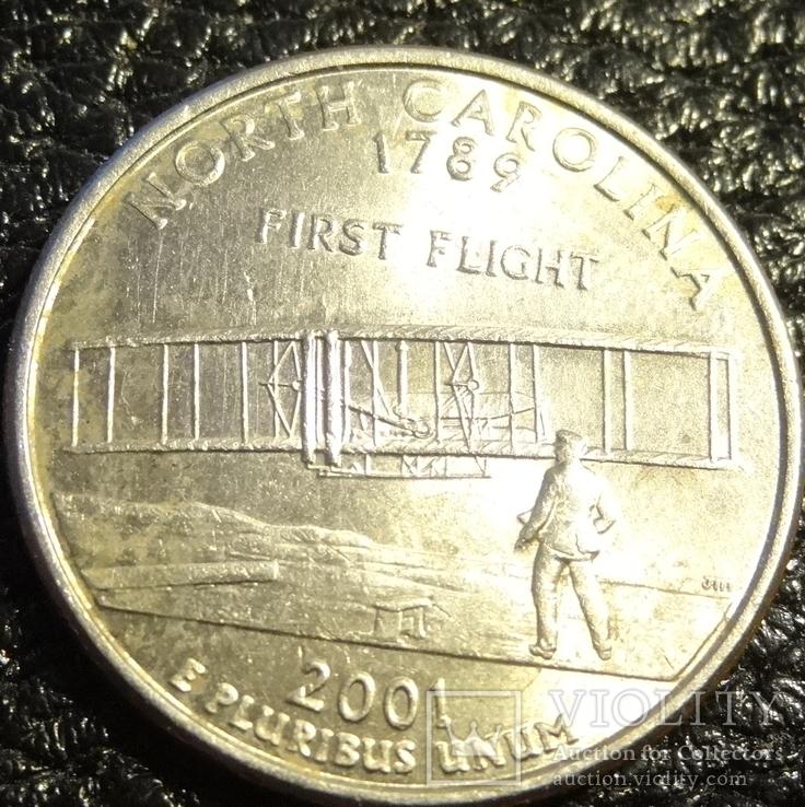 25 центів США 2001 P Північна Кароліна, фото №2