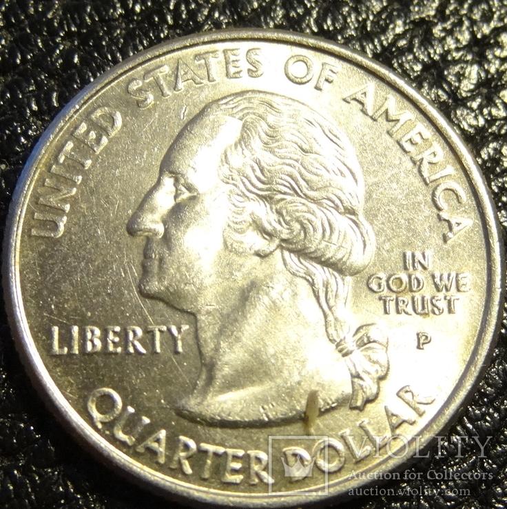 25 центів США 2001 P Північна Кароліна, фото №3