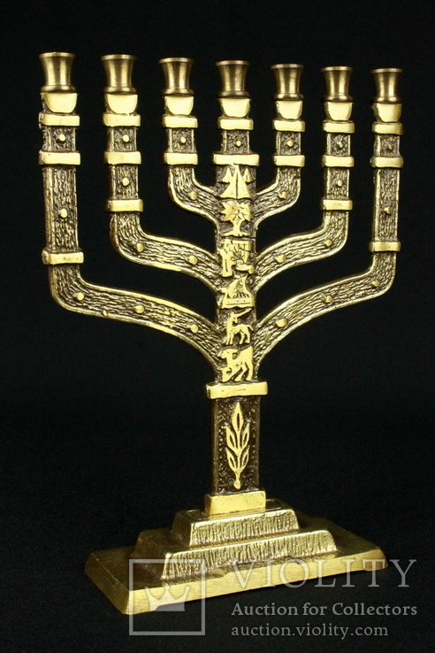 Менора. Hen Holon Israel. Семисвечник. Бронза. Израиль. (0495)
